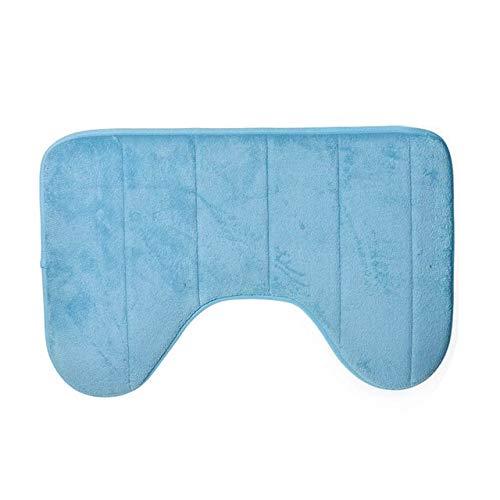 MYSdd Beste verkaufende Qualität U-förmige Badezimmermattenboden-Badezimmermattenweiche rutschfeste Hauptbadezimmerteppich-Toilettenmatten-Teppichzusätze - 1