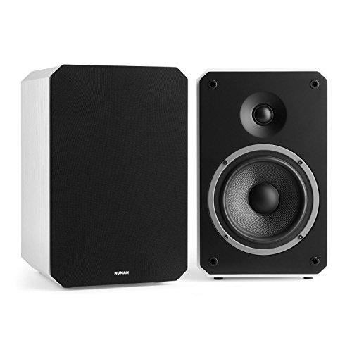 NUMAN Octavox 702 MKII • Regal-Lautsprecher • Lautsprecher-Boxen • HiFi-Boxen • high-end Boxen • 2-Wege-Lautsprechersystem • 100 Watt max. • Bassreflex • abnehmbare Lautsprecherabdeckung • weiß