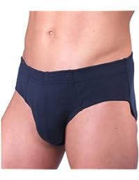 HERMKO 3300 Lot de 3 Slip Homme en 100% coton européen, slip de sport avec bordure douce, culotte