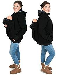 5942c821f21d Lover-Mom 3 en 1 Maternité Sweats à Capuche Polaire Kangourou Porte-bébé  Porteur Femme Zipper Pull Molletonné Blouson Sweat-Shirt…