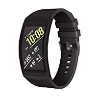 Applicable to Samsung gear fit2 watch Samsung fit2 pro watch R360 porous silicone solid color strap