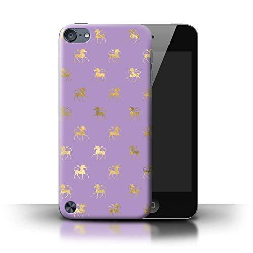 eSwish Hülle/Case für Apple iPod Touch 5 / Tänzelnde Goldene Einhörner Muster/Magische Prinzessin Muster Kollektion -