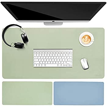 Green 90X45CM LiLan Office Desk Protector Leather Writing Mat Pad