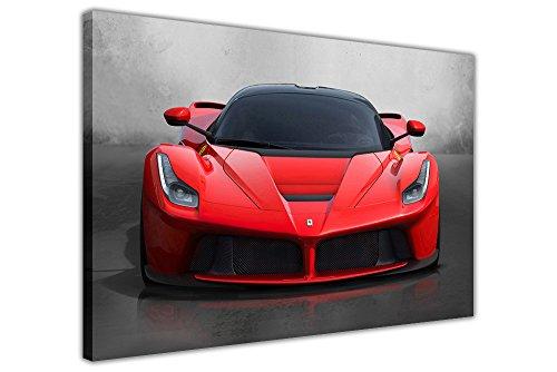 Iconic rot Ferrari LaFerrari Super Car Art auf Rahmen Leinwand Wand Print Ferrari Bilder, rot, 06- A0 - 40
