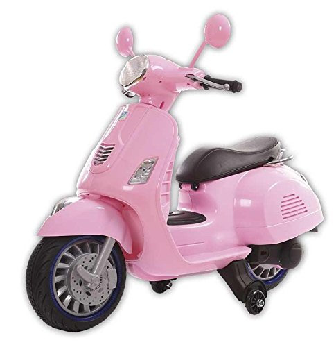 Motoor Kids Moto Eléctrica Infantil Vespa Rosa - Juguetoon