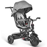 besrey Dreirad 7 in 1 Kinderdreirad Kinder Dreirad mit drehbarem Sitz lenkbarer Schubstange Sonnendach ab 6 Monate bis 6 Jahre