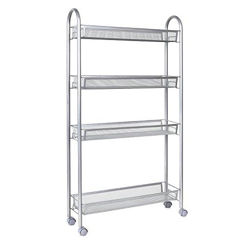 Homfa estanterias metalicas carrito cocina 4 bandejas de - Oferta estanterias metalicas ...