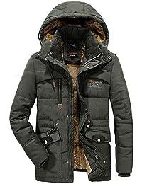 aec08033e3fe86 WS668 Herren Winter Warm Plus Samt Verdicken Mit Kapuze Baumwolle Jacken  Draussen Militär Winddicht Parker Mantel