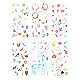 6 Sticker, selbstklebend, Blumenmotiv
