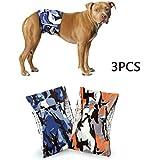 3pcs Set Pañal para Perros machos Masculino pañal para incontinencia Pantalones Protectores Banda Abdominal Cinturones para
