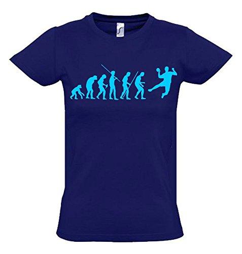HANDBALL Evolution Kinder T-Shirt navy-sky, Gr.152cm