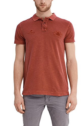 ESPRIT Herren Poloshirt 037ee2k013 Rot (Garnet Red 620)