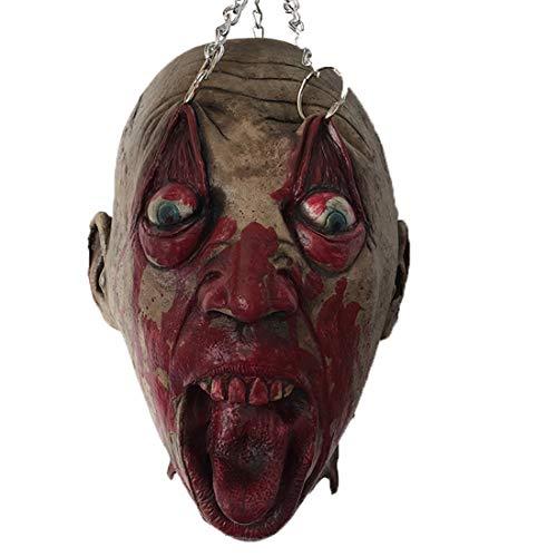 el Kopf Maske Geist Haus Faul Zombie Zombie Vampir Kopf Trickreich Requisiten Hängend ()
