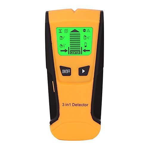 Decdeal Detector de Metales 3 en 1 de Cables de Metal de Cables en Vivo de Pared Detector de Buscador...