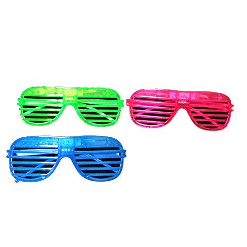 1Pc Led Light Up Brille Shutter Glow-Brillen Eyewear Shutter Shading-Glas-Neuheit-Abendkleid Leuchten Zeigen Spielzeug-Partei Bevorzugung Für Kostüme Halloween (Zuf?llige - Light Up Rave Kostüm