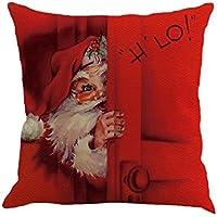 Fundas De Cojines, XINANTIME Navidad Decoración del hogar del coche del sofá del lino del algodón Funda de cojín Funda de almohada 45 x 45 cm (B)