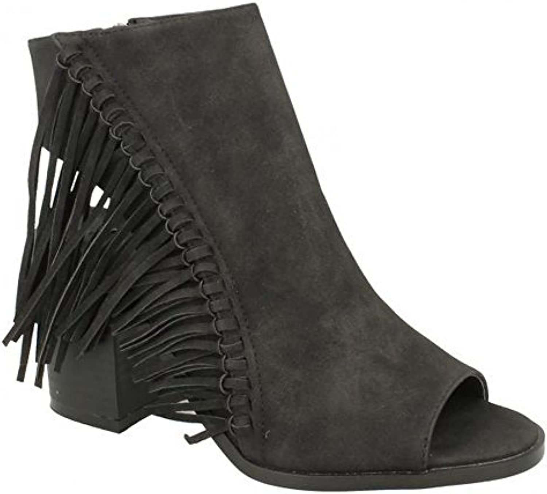 79fe94efc3d Spot Spot Spot On Womens Ladies Open Ankle Boots with Tassels B079QLD221  Parent c1f635