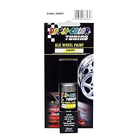 Duplicolor 665653 Tuning Stylo de Retouche Peinture Alu Wheel Paint Argento, 12 ml