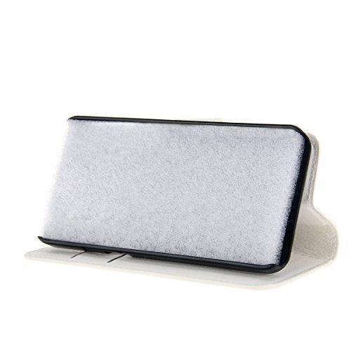 iPhone X Handycover, MOONMINI für iPhone X Bling Diamond Rhinestones PU Leder Brieftasche Hülle mit Flip Stand Funktion und Kartensteckplätze Magnetverschluss Engel Blume Kleiner Schmetterling