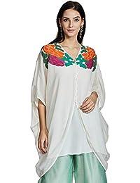 AL - Indian Luxury Women's Georgette Asymmetrical Hemline Salwar Suit Set