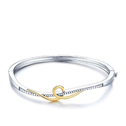 Bracelet anniversaire/simple925Platine plaqué bracelet en argent/ bracelets et ornements A