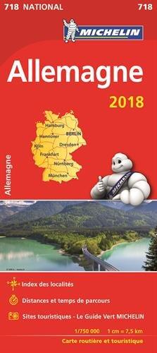 Carte Allemagne Michelin 2018 par Michelin