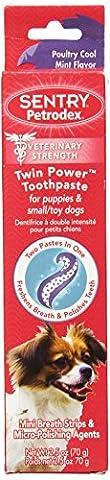 Petrodex Toothpaste Puppies Fine Polish Poultry Fresh Cool Mint Dual Paste 2.5z
