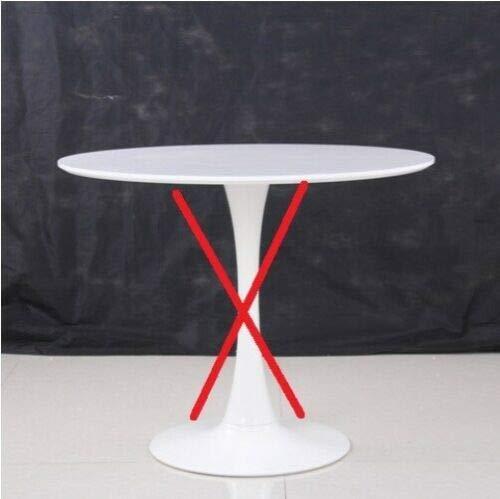 ElleDesign Solo Base und Piano Tisch Tondo Pranzo Saarinen Tulip weiß diam 90 cm Skulptur -