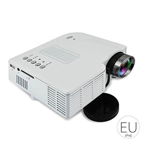 plzlm Tragbare Mini-1080P-Projektor Heimkino-Theater Verbesserte HD-Schnittstelle Home Entertainment Geräte Multimedia-Player (Energy-home-theater-system)