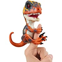 Untamed Raptor by Fingerlings - Blaze (Orange) - Interactive Collectible Baby Dinosaur - By WowWee