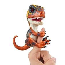 Untamed Raptor by Fingerlings - Blaze (Orange) - Interactive Collectible Baby Dinosaur - By WowWee