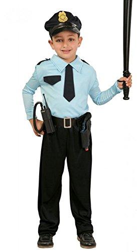 shoperama Kinder-Kostüm Polizist für Jungen GUI Kleinkind Polizei Uniform Cop Officer, Kindergröße:152 - 10 bis 12 Jahre