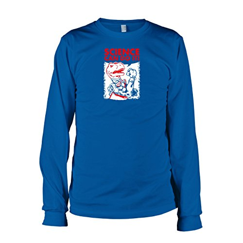TEXLAB - Dino Science - Langarm T-Shirt Marine