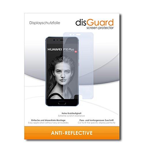 disGuard® Bildschirmschutzfolie [Anti-Reflex] kompatibel mit Huawei P10 Plus [2 Stück] Entspiegelnd, Matt, Antireflektierend, Extrem Kratzfest, Anti-Fingerabdruck - Panzerglas Folie, Schutzfolie