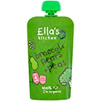Ella's Kitchen Stage 1 From 4 Months Organic Broccoli, Pear and Peas 120 g (Pack of 7)