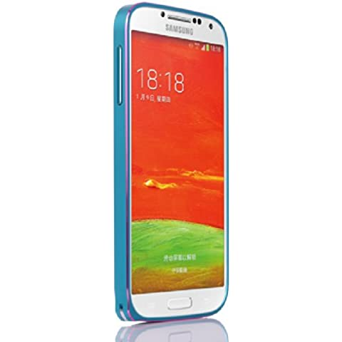 Galaxy S4 i9500 Funda by Casefashion, Hard Metal Bumper Frame Case [Slim Fit] Lightweight [Hippocampal Buckle] Anti-Scratch Side Protection Cover para Samsung Galaxy S4 i9500 - Azul, Rosa