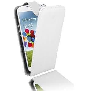 Etui Housse Luxe Blanc pour Samsung Galaxy S4 IV + STYLET et 3 FILMS OFFERTS !!