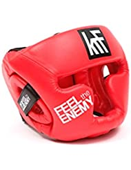 KRF Feel The Enemy Suraflex Casco Protector, Unisex Adulto, Rojo, SR (57