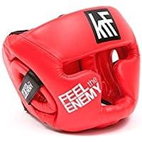 KRF Feel The Enemy Suraflex Casco Protector, Unisex Adulto, Rojo, SR (57-60 cm)