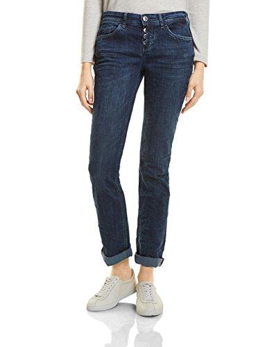 Street One Damen Straight Jeans 371066 Kate, Blau (Dark Blue Authentic Wash 11168), W40/L30 (Herstellergröße: 32) (Straight Jean Loose Leg)