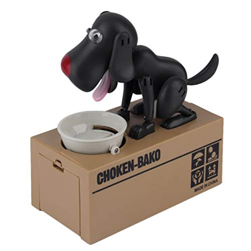 Pudincoco Durable Robotic Hund Spardose Automatic Stola Coin Money Bank Netter Hund Modell Money Bank Geld Spardose Coin Box