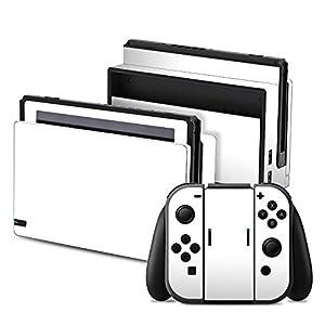 Nintendo Switch Folie Skin Sticker aus Vinyl-Folie Aufkleber Weiß Weiss White