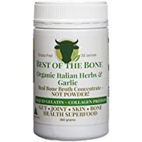 Organic Beef Bone Broth Gelatin Italian Herbs - Supports Joint Health, Boost Immunity - Fresh, Natural Ingredients for Delicious Paleo & Gluten Free Diet Friendly Broth Soup Stock - 350 Grams
