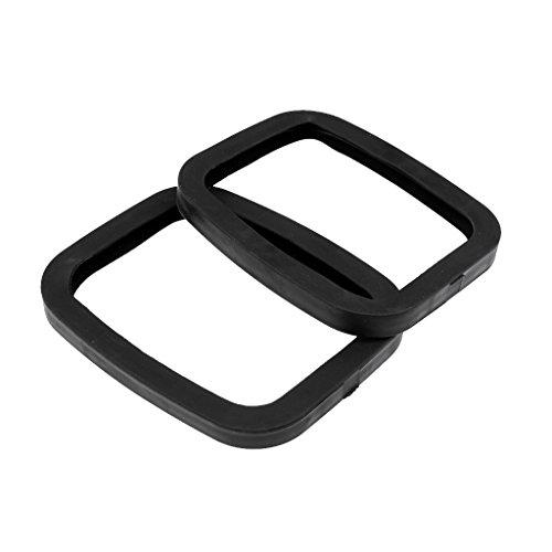 MonkeyJack 2Stück/Set 17x 14,2cm stark schwarz Gummi Roller Road Drift Skates Teller Edge Guard Displayschutzfolie -
