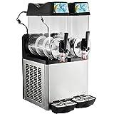 VEVOR 24L Slushy Machine Electrique Smoothie Maker Machine Sorbetière Smoothie Mushy Glace Capacité 12L X2 Réservoirs