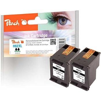 Peach testine di stampa Confezione Doppia Nero compatibile con HP No. 62x L, C2P05AE