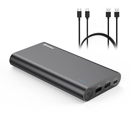 Jackery Quick Charge 2.0 20100 mAh Type-C Powerbank 3 - PortUSB Ladegerät 5.5A Smartfit Externe Akku für Smartphones, Tablets, Macbook und weiteres