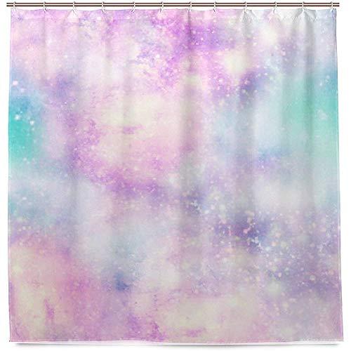 Setyserytu Duschvorhänge/Badvorhänge, Bling Pink Shower Curtain Waterproof Polyester Shower Curtain - Pink Bling Duschvorhang