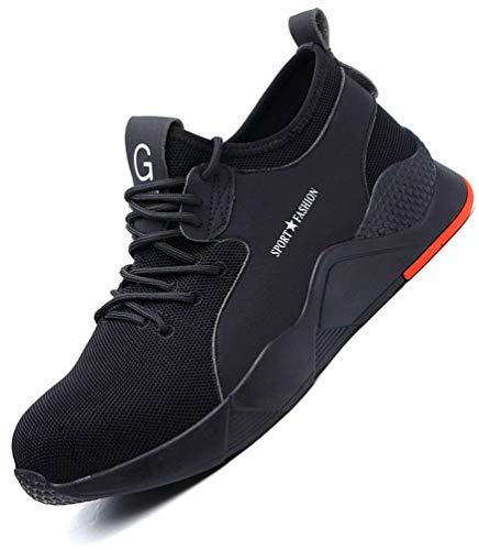 Stahlkappe Sneaker Schuhe Herren Damen Sportlich Sicherheitsschuhe Arbeitsschuhe leicht Atmungsaktiv Schutzschuhe Industrie & Handwerk Schuhe Wanderschuhe für Damen