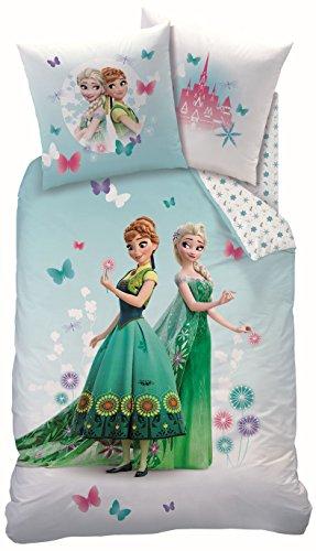 CTI juego de cama Disney diseño Frozen reina de las nieves, 135x200cm+80x80cm, de linón